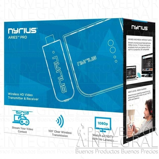 TRANSMISOR DE VIDEO HDMI INALAMBRICO NYRIUS ARIES PRIME DE 30.5 MT (100FT) - Proveedor Integral LTDA