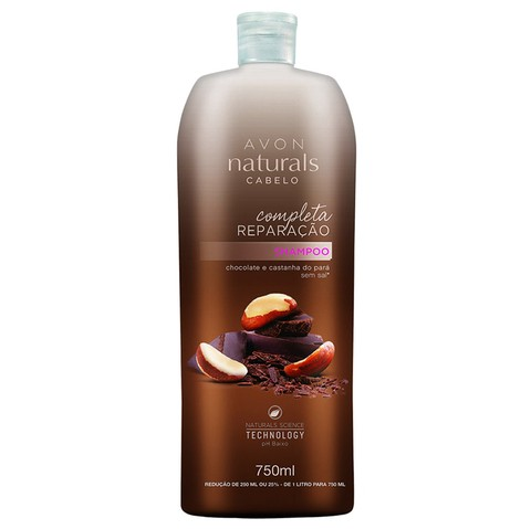Shampoo Chocolate e Castanha do Pará 750ml [Naturals - Avon] - comprar online