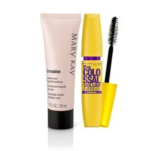 Base Matte Mary Kay + Máscara para Cílios Colossal Maybelline