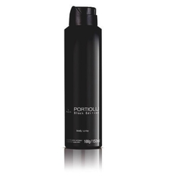 Desodorante Body Spray Aerossol Portiolli Black Masculino 150ml [Jequiti]