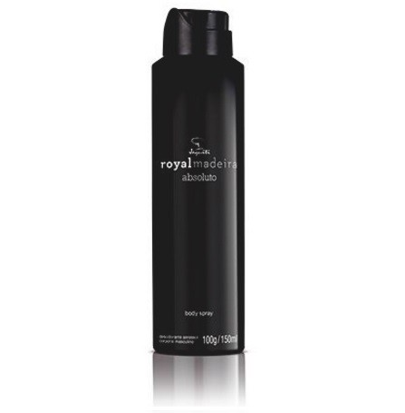 Desod. Body Spray Aerossol Royalmadeira Absoluto Masculino 150ml [Jequiti] - comprar online