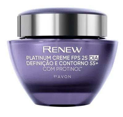 Creme Facial Anti-idade +55 Dia FPS25 50g [Renew Platinum - Avon]
