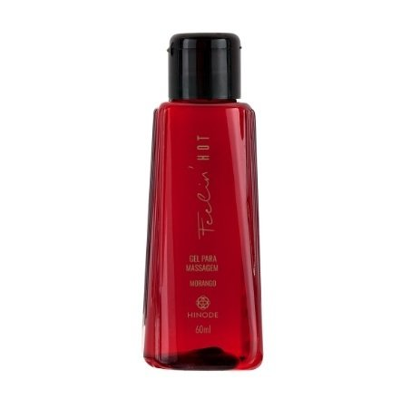 Gel para Massagem Feelin' Hot Morango 60ml [Hinode]