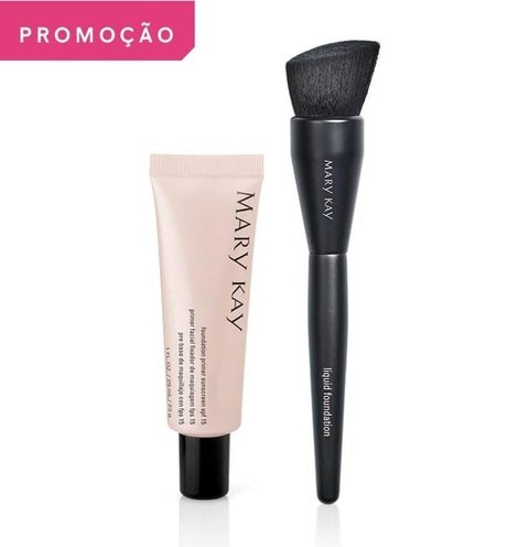 Kit Pincel para Base Líquida + Primer Facial FPS15 [Mary Kay]