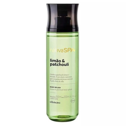Limão e Patchouli Body Splash 200ml [Nativa Spa - O Boticário]