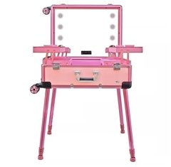 Maleta Camarim Rosa c/ LED e Bluetooth 1313-2 [Ruby's]