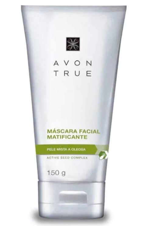 Máscara Facial Matificante Pele Mista a Oleosa 150ml [True - Avon]