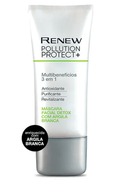 Máscara Facial Pollution Protect + Detox com Argila Branca [Renew - Avon]