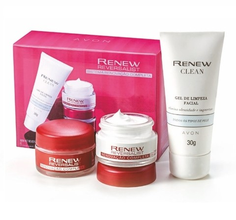 Mini Kit Renew Reversalist 35+ com Gel de Limpeza Facial [Avon]