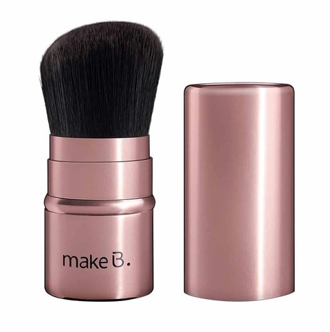 Pincel kabuki retrátil rose gold [Make b. - O Boticário]
