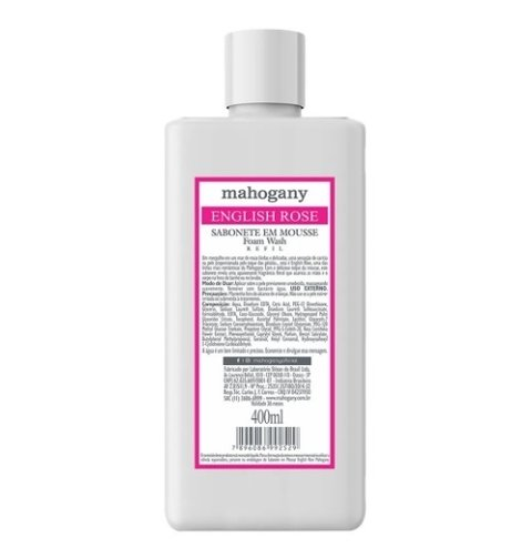Refil Sabonete em Mousse English Rose 400ml [Mahogany]