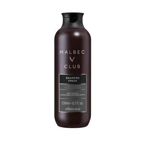 Shampoo Fresh Malbec Club 250ml [O Boticário]