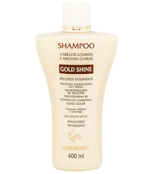 Shampoo Gold Shine 400ml [Mahogany]