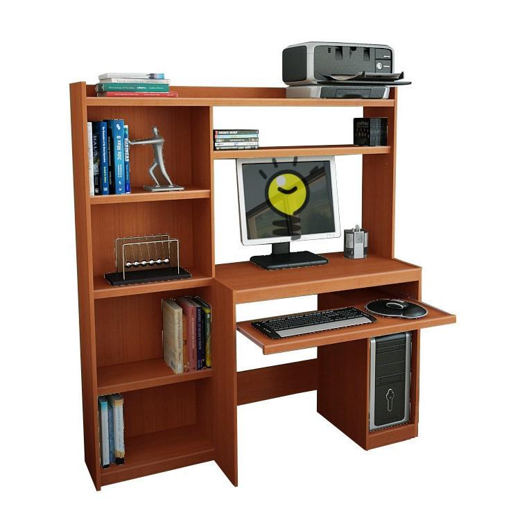 Escritorio mesa para pc reproex r11813 con alzada y biblioteca for Escritorio para pc