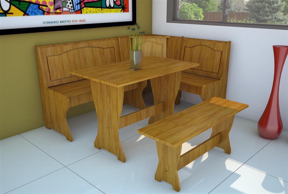 Juego de comedor rinconero en mdf bancos mesa for Mesa cocina con banco rinconera