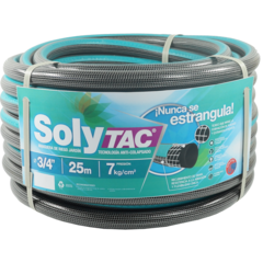 Riego 3/4 X 25 Mts Anticolapsable Solytac Reforzada