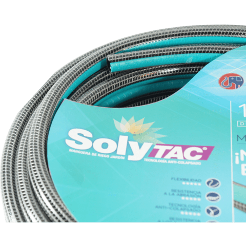 Riego 1/2 X 25 Mts Anticolapsable Solytac Reforzada
