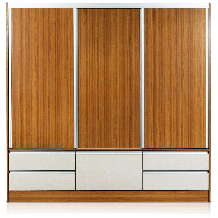 Placard taormina 210x205x60 melamina zapatero 3 puertas alum for Zapatera de aluminio