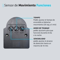 Reflector Led 20w Sensor Movimiento 220 Exterior Blanco Frio en internet