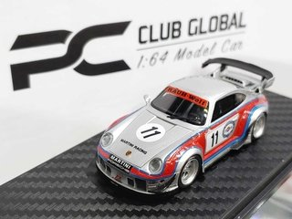 PRÉ VENDA PC Club 1:64 Porsche 911 993 RWB Martini