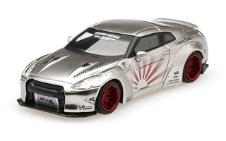 Mini GT 1:64 Nissan GT-R LB Performance Satin Silver