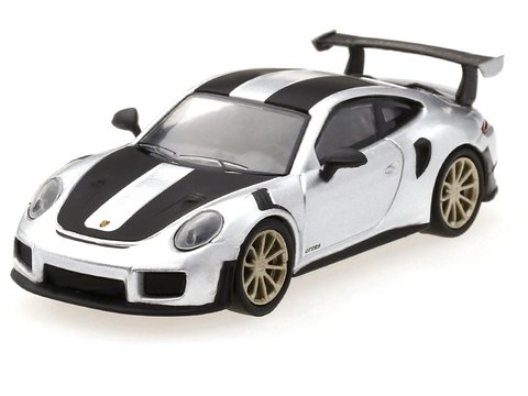 Mini GT 1:64 Porsche 991 Turbo GT2RS GT Silver Metallic
