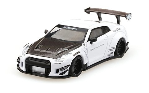 Mini GT 1:64 LB?WORKS Nissan GT-R (R35) White ver 3 Branco
