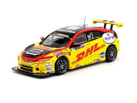 PRÉ VENDA Tarmac 1:64 Honda Civic Type R TCR WTCR Race of Macau 2018 Tom Coronel