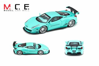 PRÉ VENDA MCE Resina 1:64 Ferrari 458 LB Performance Tiffany Blue - buy online