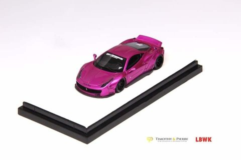 PRÉ VENDA TP 1:64 Ferrari 458 Ducktail Liberty Walk Flash Pink