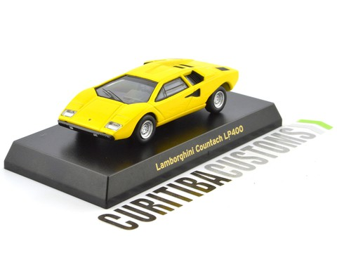 Kyosho 1:64 Lamborghini Countach LP400 - Yellow