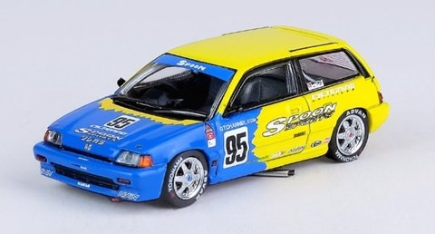 INNO64 1:64 Civic Si E-AT Spoon 1985 #95 New Jersey Race