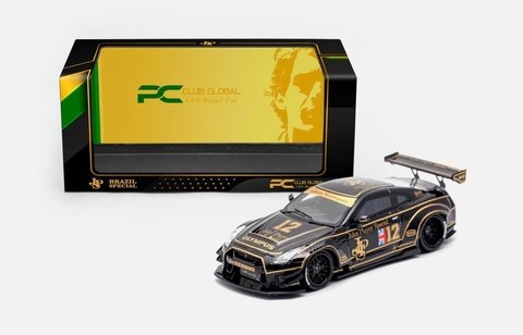 PRÉ VENDA PC Club 1:64 NISSAN GT-R 2.0 LB★PERFORMANCE - JPS Exclusivo Brasil