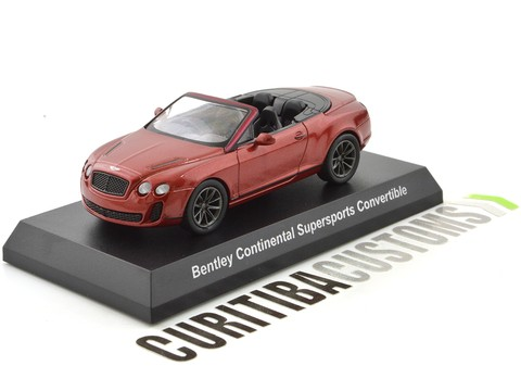 Kyosho 1:64 Bentley Continental Supersports Convertible - Vermelho