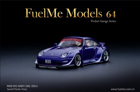 Fuel Me 1:64 RWB 993 Army Girl  ver. Ducktail