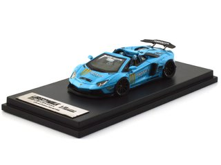 PC Club 1:64 Lamborghini Aventador Roadster Monster Azul Claro