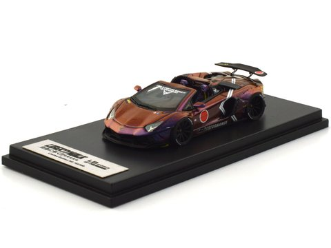 PC Club 1:64 Lamborghini Aventador Roadster Zero Fighter Roxo