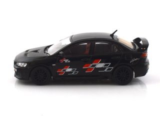 Tarmac 1:64 Mitsubishi Evo X - Ralliart Edition Black - Curitiba Customs