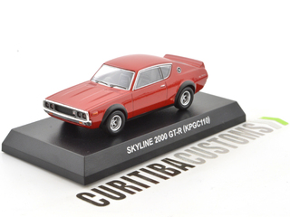 Kyosho 1:64 Skyline 2000GT-R (KPGC110) - Red