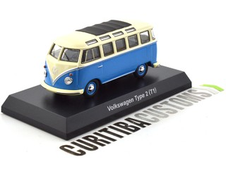 Kyosho 1:64 Volkswagen Type 2 (Kombi) - Blue w/ black roof