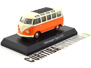 Kyosho 1:64 Volkswagen Type 2 (Kombi) - Orange w/ black roof