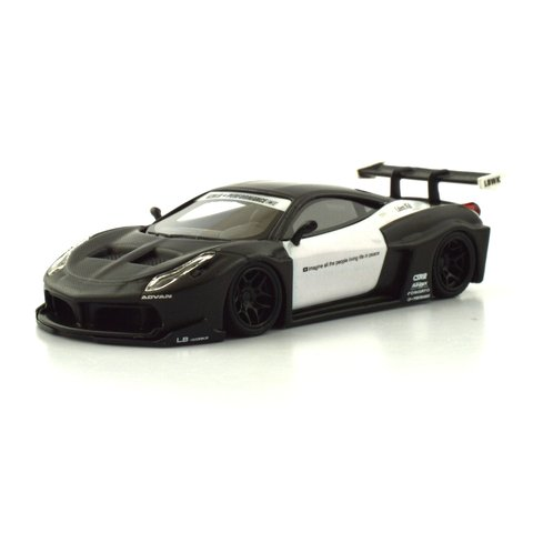 PRÉ VENDA PC Club 1:64 Ferrari 458GT LB★PERFORMANCE - Fibra de Carbono/Branco