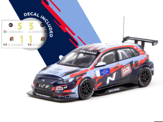 SINAL 30% Tarmac 1:64 Hyundai i30 N TCR, WTCR 2019, With decal, No. 1 Tarquini & No.5 Michelisz