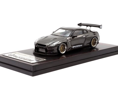 IGNITION MODEL 1:64 Pandem R35 GT-R Gun Metallic