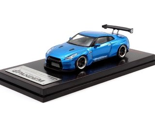 IGNITION MODEL 1:64 PANDEM R35 GT-R Blue Mettalic