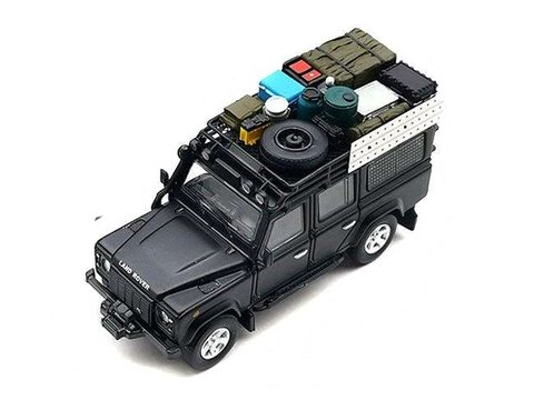 Master 1:64 Land Rover Defender 110 Preto Fosco