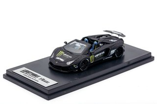 PC Club 1:64 Lamborghini Aventador Roadster Monster Preto Fosco