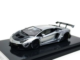 JEC 1:64 LB Performance Lamborghini LP700-4 Aventador 2.0 Wide Body - Prata