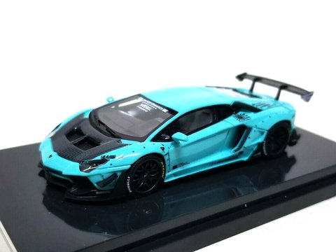 PRÉ VENDA Resina 1:64 LB Performance Lamborghini LP700-4 Aventador 2.0 Wide Body - Tiffany Blue