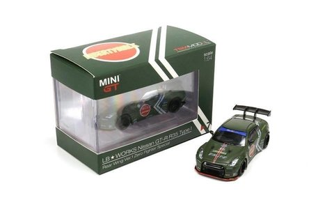 Mini GT 1:64 LB WORKS Nissan GT-R R35 GT Wing Zero Fighter